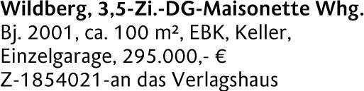 Eigentumswohnung in (72218) 100m² Nordhausen