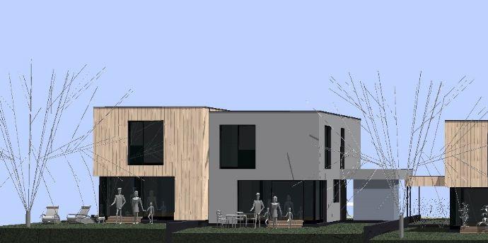 Architektenholzhaus mit Carport Bergen auf Rügen