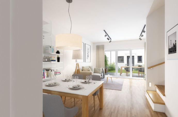   JETZT NOCH BAUKINDERGELD SICHERN!   NEUBAU REIHENHAUS, 5-Zimmer auf fast 120m² mit Terrasse und Garten Auf der Nöll