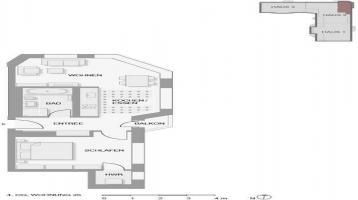 Elegant geschnittene 2-Zimmer-Wohnung mit Balkon