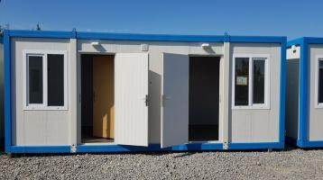 Bürocontainer 2 Zim. WC KÜCHE 3x9 METER RIESIG NEUWARE B3003-3x9