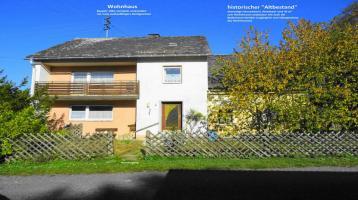 Einfamilienhaus in Naturlage mit Garage und historischem Anbau