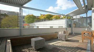 Großzügig Leben in der Au, ganz ruhig! Repräsentatives Loft + luxuriöse Ausstattung + Dachterrasse