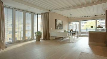 Wohntraum in der Au! 3 Zi. Loft absolut ruhig mit wunderschöner Dachterrasse + luxuriöse Ausstattung