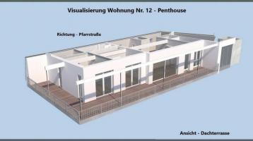 Traumhafte einzigartige PENTHOUSE - genießen Sie IHREN Blick über Rehau mit ca. 135m² Wohnfläche und Dachterrasse im 3.OG Neubau - Bezugsfertig 2021