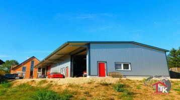 Gewerbehalle 380 qm und ein exklusives 1-2 Fam. Wohnhaus Bj. 2019 in 91720 Absberg am Brombachsee