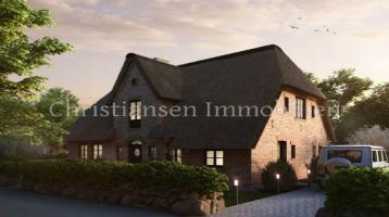 Exclusives Reetdachhaus am Rande von Oldsum