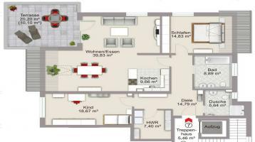Macht Ihnen Ihr Haus zu viel Arbeit? Eine große Wohnung ist hier die richtige Alternative.