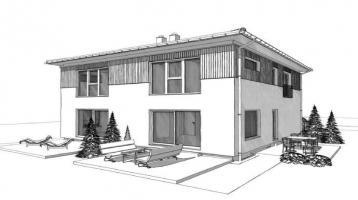 Baugrundstück für Doppelhaus: 112 qm + Angabe Preis pro Hälfte -nahe Beelitz