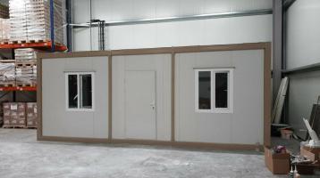 Bürocontainer 2 Zimmer, WC, DUSCHE 3x7 METER RIESIG NEUWARE B3005