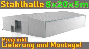 8x20x5m Stahlhalle - TIR Garage Waschanlage Werkstatt Halle NEU !