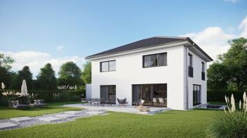 kurzfristig bezugsfertig: schlüsselfertige Neubau-Einfamilienvilla mit schönem Garten