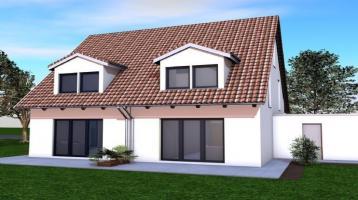 Reprästentative Doppelhaushälfte inkl. Wärmepumpe, Fußbodenheizung und Grundstück. NEUBAUPROJEKT in bevorzugter Wohnlage!!
