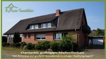 Großzügiges Zweifamilienhaus mit Potenzial auf großem Grundstück in ruhiger Siedlungslage!