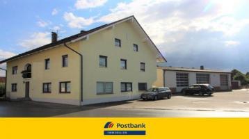 Großes Wohnhaus mit voll unterkellerter Gewerbehalle zwischen Plattling und Osterhofen