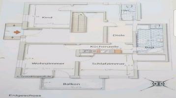 3 Zimmer Wohnung im EG voll renoviert in Jenkofen