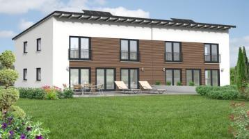 Grundstück , moderne Doppelhaushälfte mit Pultdach, KfW 55, Garage, ruhig und zentral gelegen
