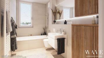 4-Zi.-Eckwohnung mit Terrasse, Garten, Tageslichtbad und abgetrennter Küche