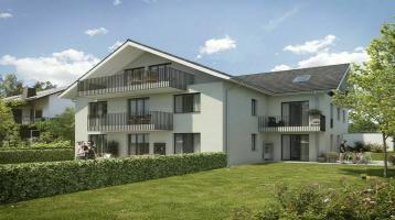 Wohnen mit Stil! Exklusive Neubau 4 ZKB Penthousewohnung mit 3 Balkonen & eigenem Gartenanteil in Taufkirchen