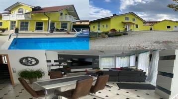 Einfamilienhaus Pool PV + Speicher Solar freistehend