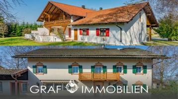 Absolute Ruhe - Zwei Häuser mit Scheune, Almhütte und Grünland