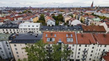 Top-Lage Haidhausen! Maisonette-Wohntraum auf einer Grundfläche von ca.132m² mit toller Dachterrasse in denkmalgeschützem Jugendstilhaus.