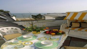 Traumhafte DG-Wohnung mit Panoramaterrasse & Meerblick - und dennoch auch Südsonne ! Erweiterbar!
