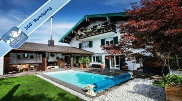 Exklusive 3-Zimmer-Erdgeschoss-Wohnung mit großem Garten und Pool in ruhiger Toplage