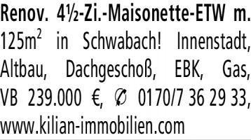 4.5-Zimmer Eigentumswohnung in Schwabach (91126) 125m²