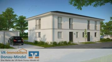 Exklusiv und zentrumsnah Wohnen - Neubau einer Doppelhaushälfte in Krumbach!