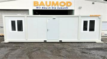 Bürocontainer 3x7 Meter 2 Zim WC DUSCHE KÜCHE Staplertasche B7001