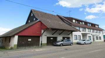 WOHN- UND GESCHÄFTSHAUS mit Gewerberaum, Werkstatt und Grossraumgaragen