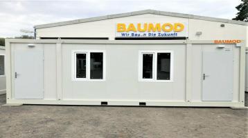 Bürocontainer 3x7 Meter 2 Zi. WC DUSCHE KÜCHE STAPLERTASCHE B3006