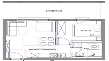 2 Zi / Dachgeschoss mit Dachterrasse / WE 4210