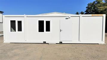 Bürocontainer 3x7 Meter 1 Zimmer WC Dusche STAPLERTASCHE B2005