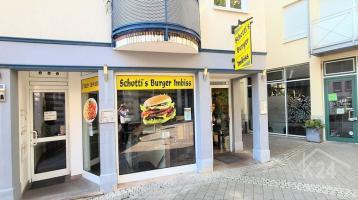 Restaurant / Imbiss mit Inventar-Ablösung in der Fußgängerzone Weinheim zu verpachten!