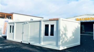 Bürocontainer 3x7 METER 2 Zimmer WC DUSCHE STAPLERTASCHE B3005