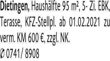 Eigentumswohnung in (78661) 95m²