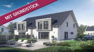 Moderne Doppelhaushälfte mit besten Werten (inkl. Grundstück & Keller & KfW-Effizienzhaus 55)