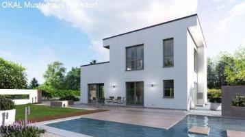 Neue Flachdach Villa mit großen Balkon in Schwabach