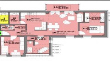 Hochwertige 3-Zimmer-DG-Wohnung mit Balkon und Gartenmitbenutzung in Bad Neustadt an der Saale