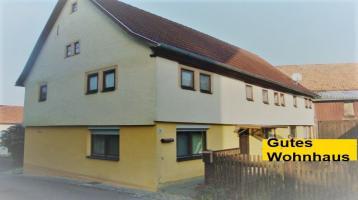 Gutes Wohnhaus-2-Scheunen-2 J.Deer-Traktoren, 150m2 Wfl, 500m2 Lagerfläche-zwi. Bad Königshofen-Mellrichstadt-