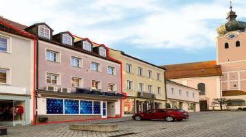 Mehrfamilienhaus mit Gewerbeeinheit am oberen Stadtplatz von Landau a. d. Isar