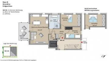 Kilians 2.0 / Haus B - Großzügige, sonnige und barrierefreie 3-Zimmer-Wohnungen KfW55! - Das erfolgreiche Wohnkonzept in Bad Windsheim geht weiter!