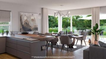 ALSAOL IMMOBILIEN: Neubauvorhaben Perlach Living - O FIVE - Sensationelle Gartenwohnung mit Südterrasse und zugehörigem, hochwertigen Hobbyraum!
