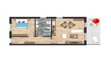 2-Zimmer-Wohnung mit Terrasse in Straubing
