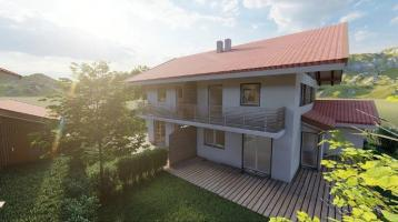 Neubau-Süd-Ost-Haushälfte mit Garage, Stellplatz und Geräteraum
