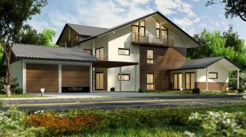E&Co.- Projektion / Planung einer Villa / EFH mit 280 qm Wohnfläche auf schönem ruhigem Grundstück