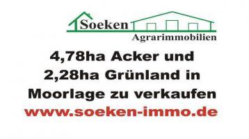 Acker und Grünland in Moorlage zu verkaufen. HF2101