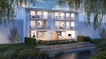WOHNWELT IMMOBILIEN: Exklusives Stadthaus in individueller Architektenplanung mit Wasserzugang